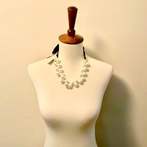 J. Crew Pearl Tie Statement Necklace NWT